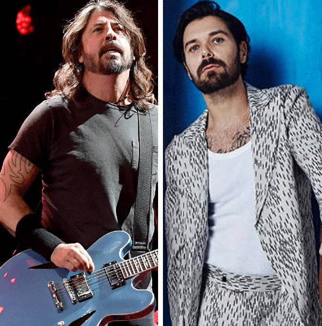 Foo Fighters' Dave Grohl and Biffy Clyro's Simon Neil