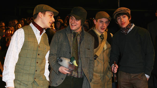 Arctic Monkeys dress as Yorkshire farming gentlemen at the BRIT Awards 2008