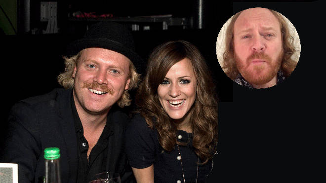 Keith Lemon and Caroline Flack in 2008 and Keith Lemon inset