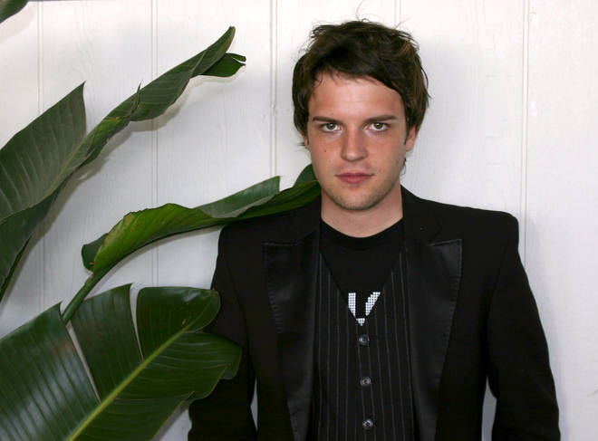 Brandon Flowers at KROQ on September 18, 2004.