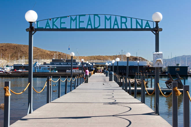 Scene of the crimer? Lake Mead Marina in Nevada, near Las Vegas, circa 1969