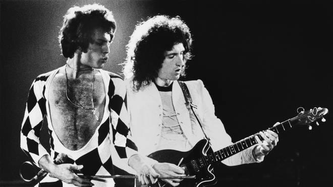 Queen in concert in 1978 at The Forum, Inglewood, California