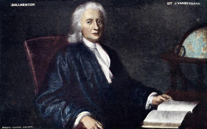 Isaac Newton, portrait by J. Vanderbank.