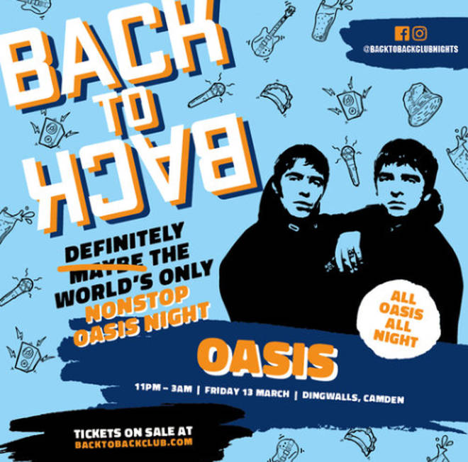 Oasis Back To Back club night coming to London, Manchester and Dublin