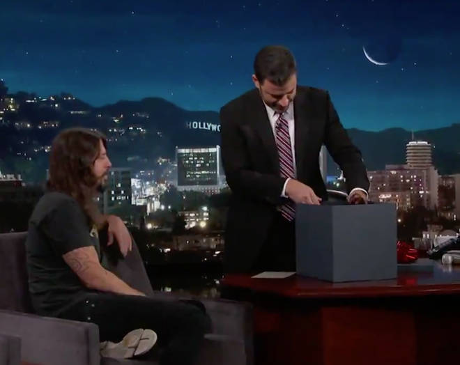 Jimmy Kimmel opens gift of severed head from Foo Fighters' Dave Grohl