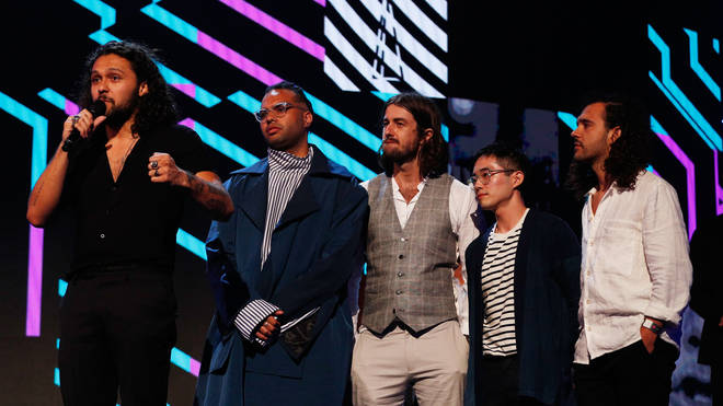 Gang of Youths accept the ARIA for Album of The Year during the 31st Annual ARIA Awards 2017