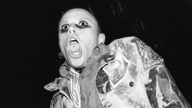Keith Flint of The Prodigy performs at Lollapalooza in 1997