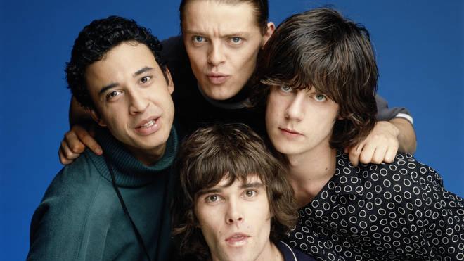 The Stone Roses in 1990: Reni, Mani (top) Ian Brown (bottom) John Squire