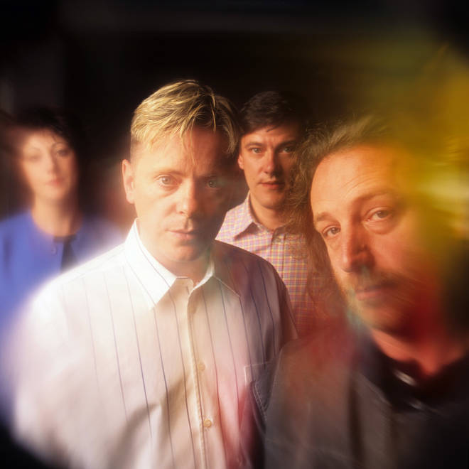 New Order in October 1989: Gillian Gilbert, Bernard Sumner, Stephen Morris and Peter Hook