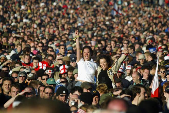 Festival crowd, 2004