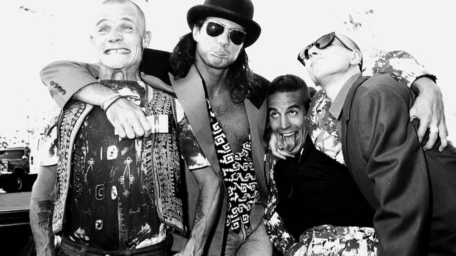 Flea, Chad Smith, Anthony Kiedis and John Frusciante of Red Hot Chili Peppers in 1989