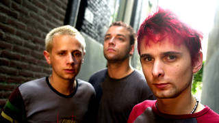 Muse in August 2001: Dominic Howard, Chris Wolstenholme, Matt Bellamy