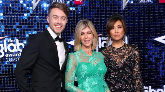 Roman Kemp, Kate Garraway and Myleene Klass attending The Global Awards 2020 with Very.co.uk at London's Eventim Apollo Hammersmith
