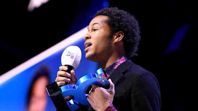 Sheku Kanneh-Mason wins the Best Classical Artist award on stage at the Global Awards 2020 with Very.co.uk at London's Eventim Apollo Hammersmith.