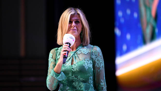 Host Kate Garraway on stage at the Global Awards 2020 with Very.co.uk at London's Eventim Apollo Hammersmith.