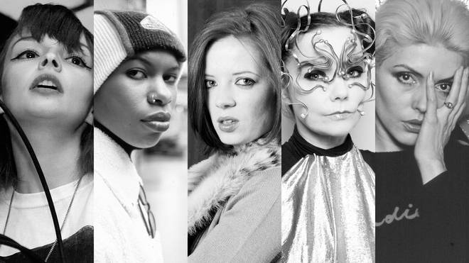 Lauren Mayberry of CHVRCHES, Skin from Skunk Anansie, Shirley Manson of Garbage, Björk and Debbie Harry of Blondie.