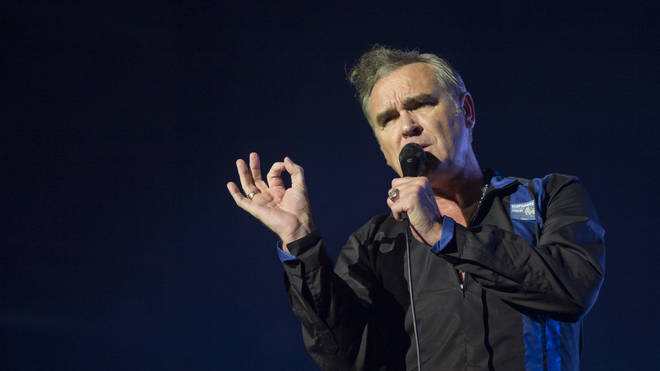 Morrissey performs on stage at Sant Jordi Club on October 10, 2014 in Barcelona