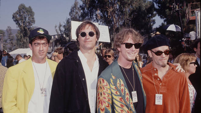 R.E.M. IN 1995: Bill Berry, Peter Buck, Mike Mills and Michael Stipe