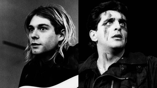 Kurt Cobain of Nirvana and Jaz Coleman of Killing Joke