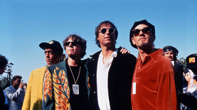 R.E.M. in 1991: Bill Berry, Mike Mills, Peter Buck and Michael Stipe