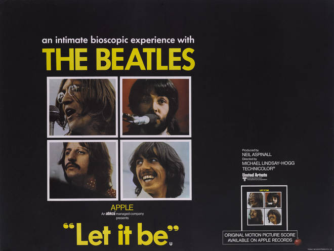 A poster for the Apple Corps movie 'Let It Be', featuring The Beatles, 1970.