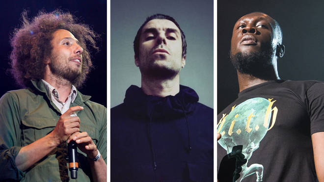 Rage Against The Machines' Zack de la Rocha, Liam Gallagher and Stormzy