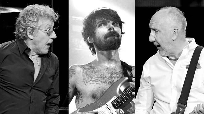 The Who's Roger Daltrey, Biffy Clyro frontman Simon Neil and The Who's Pete Townshend