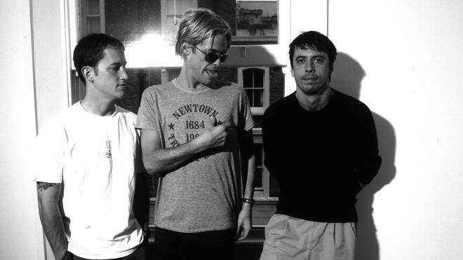 Foo Fighters in 1997:   Pat Smear, Taylor Hawkins, Dave Grohl