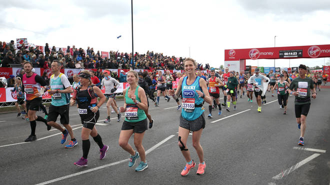 Runners in The London Marathon 2019