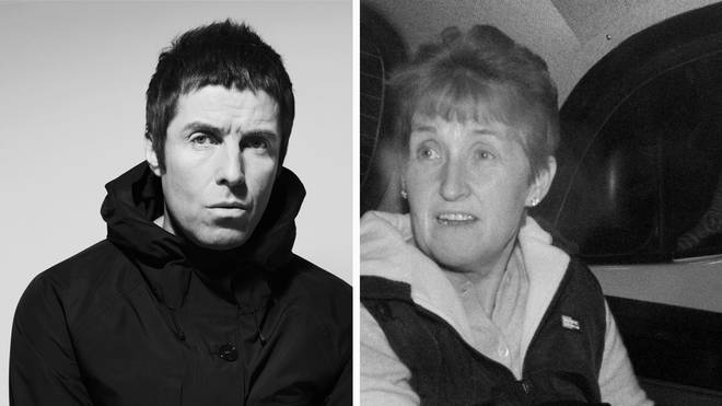 Liam Gallagher and mother Peggy Gallagher