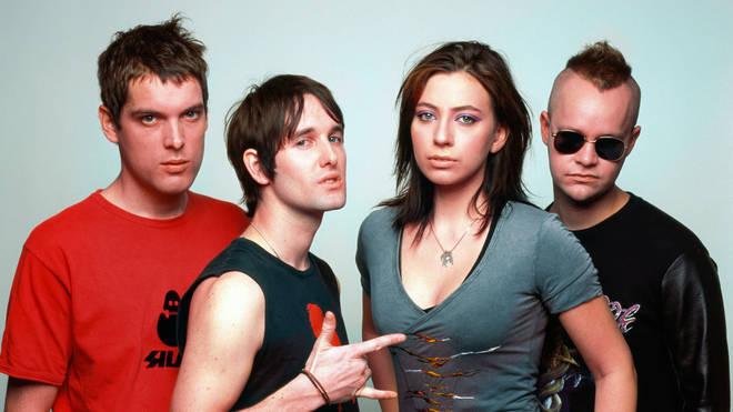 Ash in 2002: Mark Hamilton, Tim Wheeler, Charlotte Hatherley, Rick McMurray