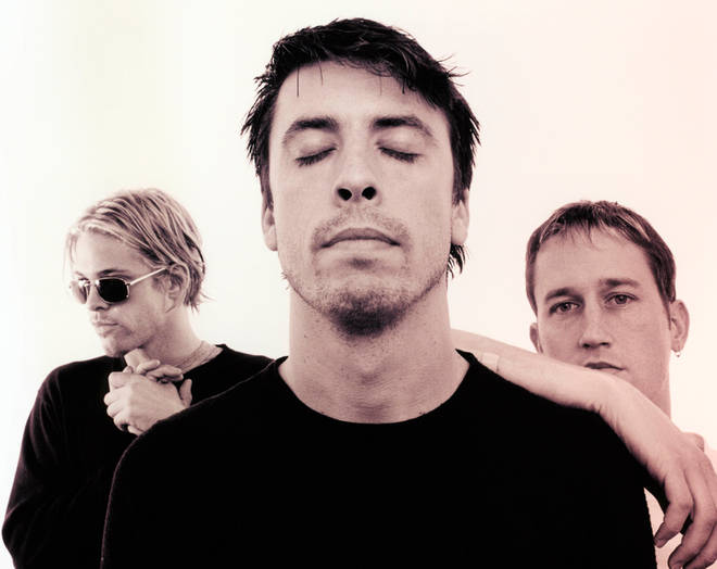 Foo Fighters in 1999: Taylor Hawkins, Dave Grohl and Chris Shiflett