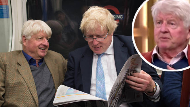 Stanley Johnson and his son British Prime Minister Boris Johnson