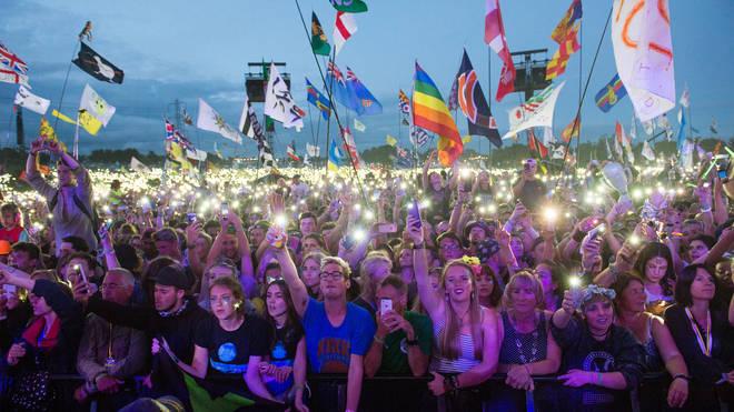 Crowds at Glastonbury Festival 2017