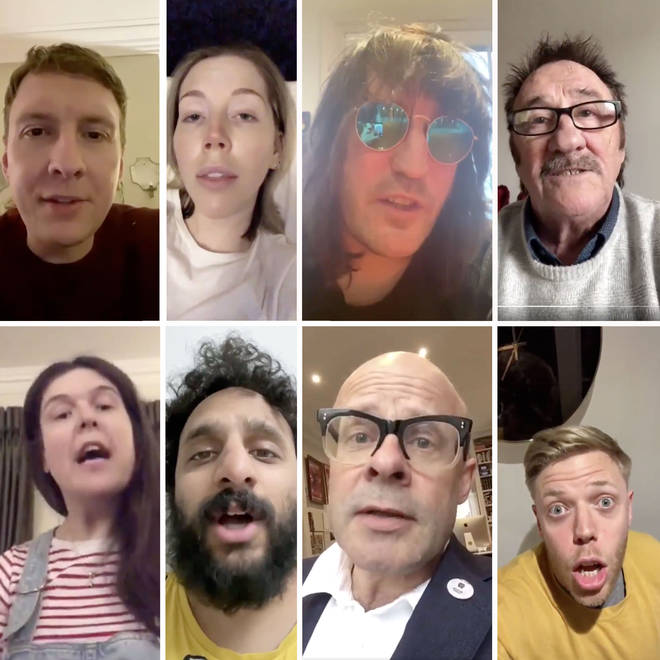 "Joe Lycett joined by comedians for ""b******"" Imagine cover parody"