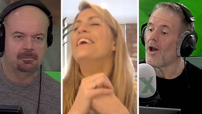 Dominic Byrne, Pippa Taylor and Chris Moyles call find callers for a sing-alone