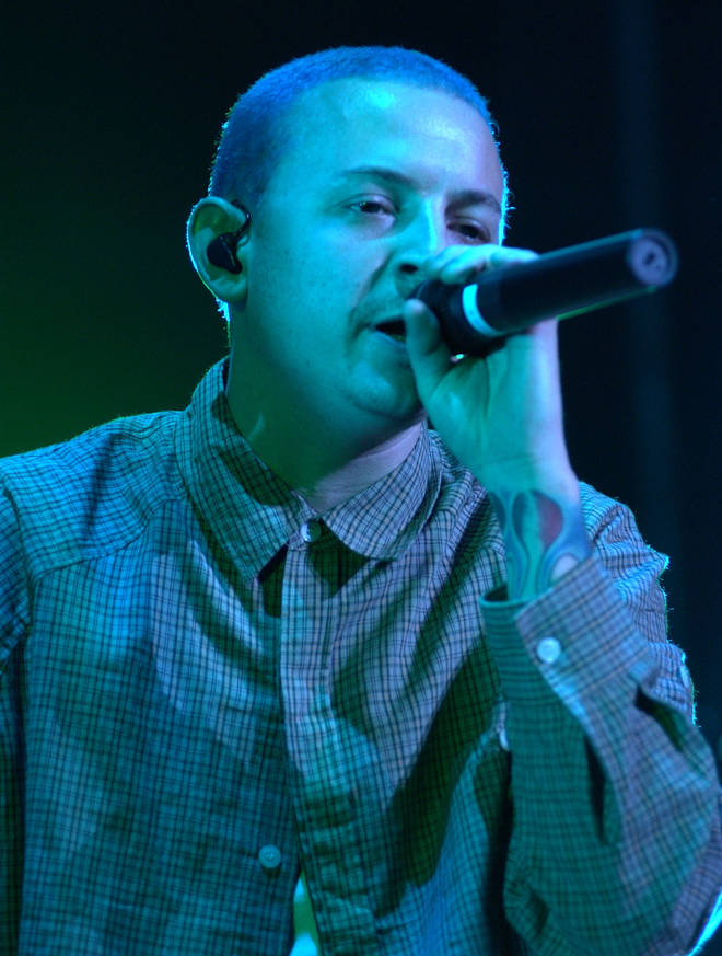 Chester Bennington of Linkin Park performs on the Family Values Tour in 2001