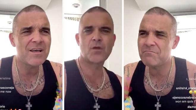 Robbie Williams sings Oasis' Wonderwall in live Instagram session