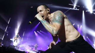 Chester Bennington of Linkin Park performs at The O2 Arena on July 3, 2017