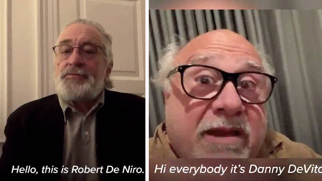 Robert De Niro and Danny Devito urge New Yorkers to stay at home