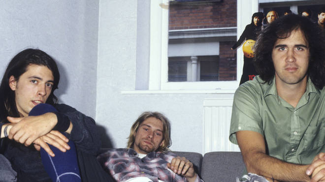 Nirvana's Dave Grohl, Kurt Cobain and Krist Novoselic in 1991