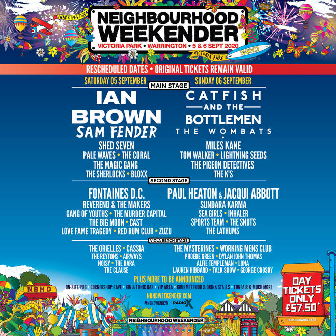 Neighbourhood Weekender 2020 rescheduled line-up