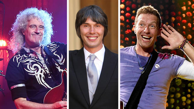Queen's Brian May, Professor Dr. Brian Cox and Coldplay's Chris Martin