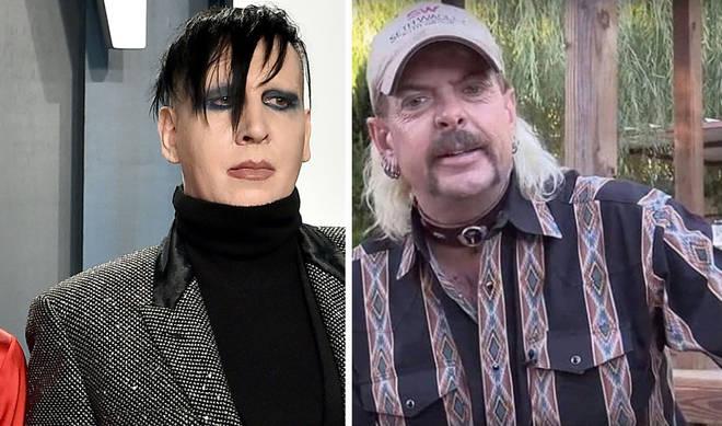 Marilyn Manson and star of Netflix's Tiger King Joe Exotic