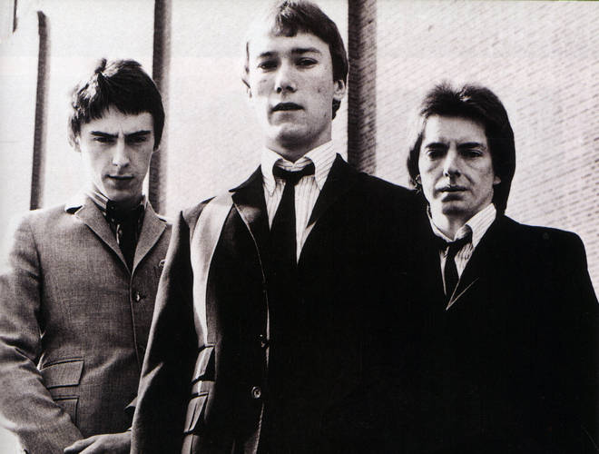 The Jam in 1977:  Paul Weller, Rick Buckler, Bruce Foxton