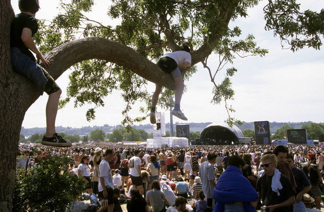 The Other Stage in 1995, during Glastonbury's 25th anniversary