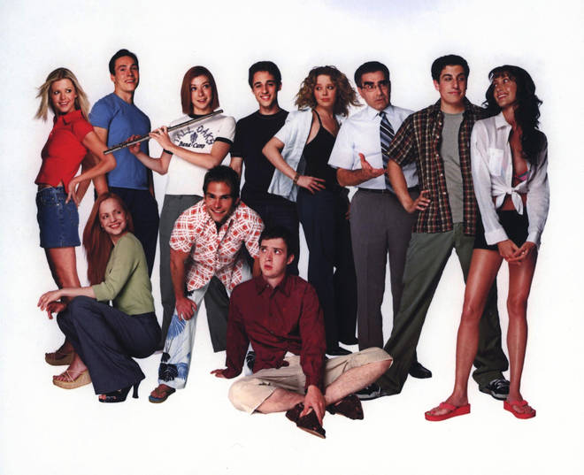 An image of the cast of 1999 film American Pie