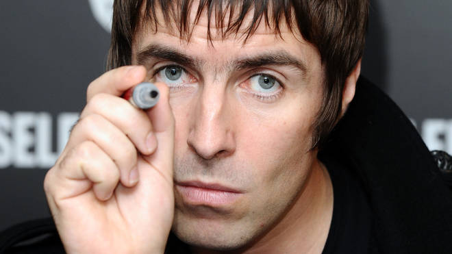 Liam Gallagher at a signing in 2009