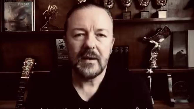 Ricky Gervais shares video message for International Animal Rescue