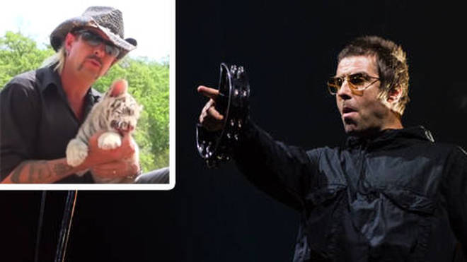 Liam Gallagher (R) admit's he's seen Netflix's Tiger King